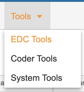 Access EDC Tools from the Tools Tab