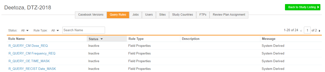 Query Rules in EDC Tools