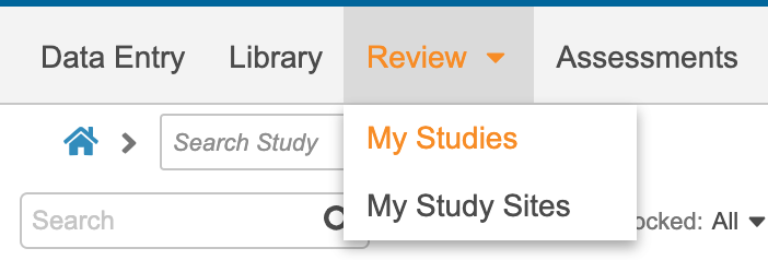 Review Tab Subtabs: Study Sites, Queries, and Study Jobs