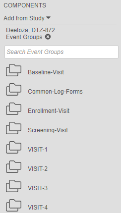 Updated Event Group icons in the Components panel