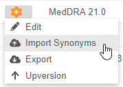 Import Synonyms action