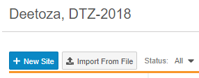 Import from File button in EDC Tools > Sites
