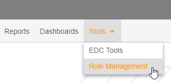 Tools > Role Management navigation tabs