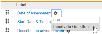 Inactivate Question action