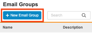 New Email Group button